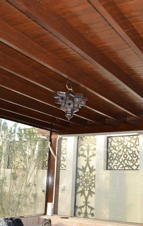 Installation & finishing of majlis in the garden