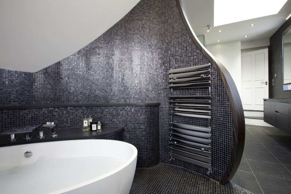 Sleek and curvy design bathroom-Taskmasters