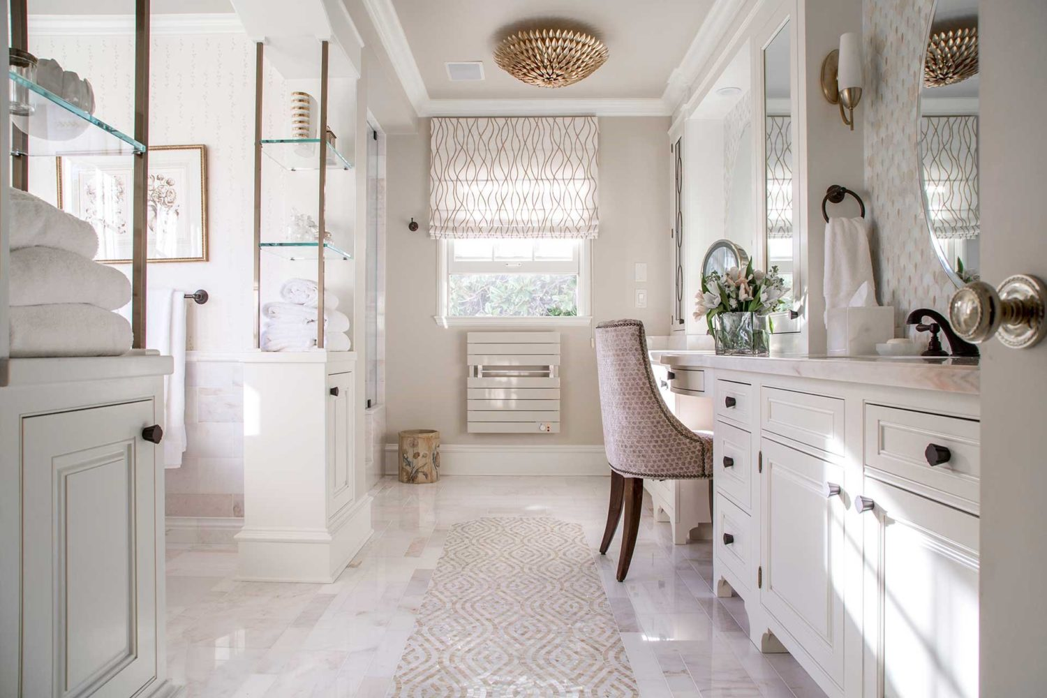 Bright and white bathroom