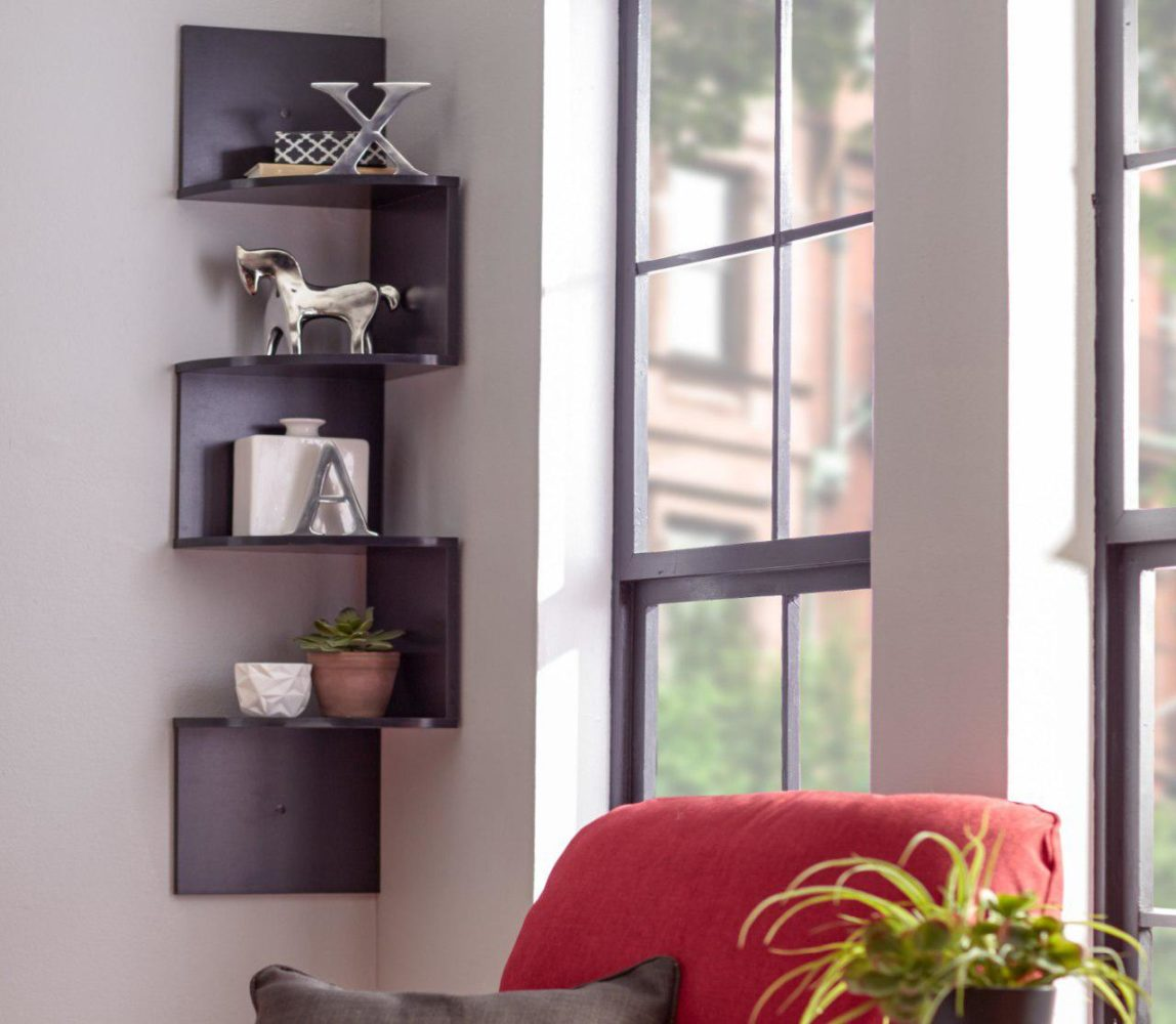 Zigzag corner wall shelf - Taskmasters Dubai
