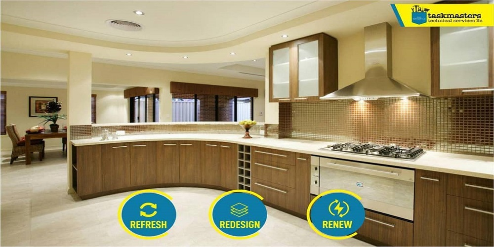 Kitchen renovation in Dubai by Taskmasters