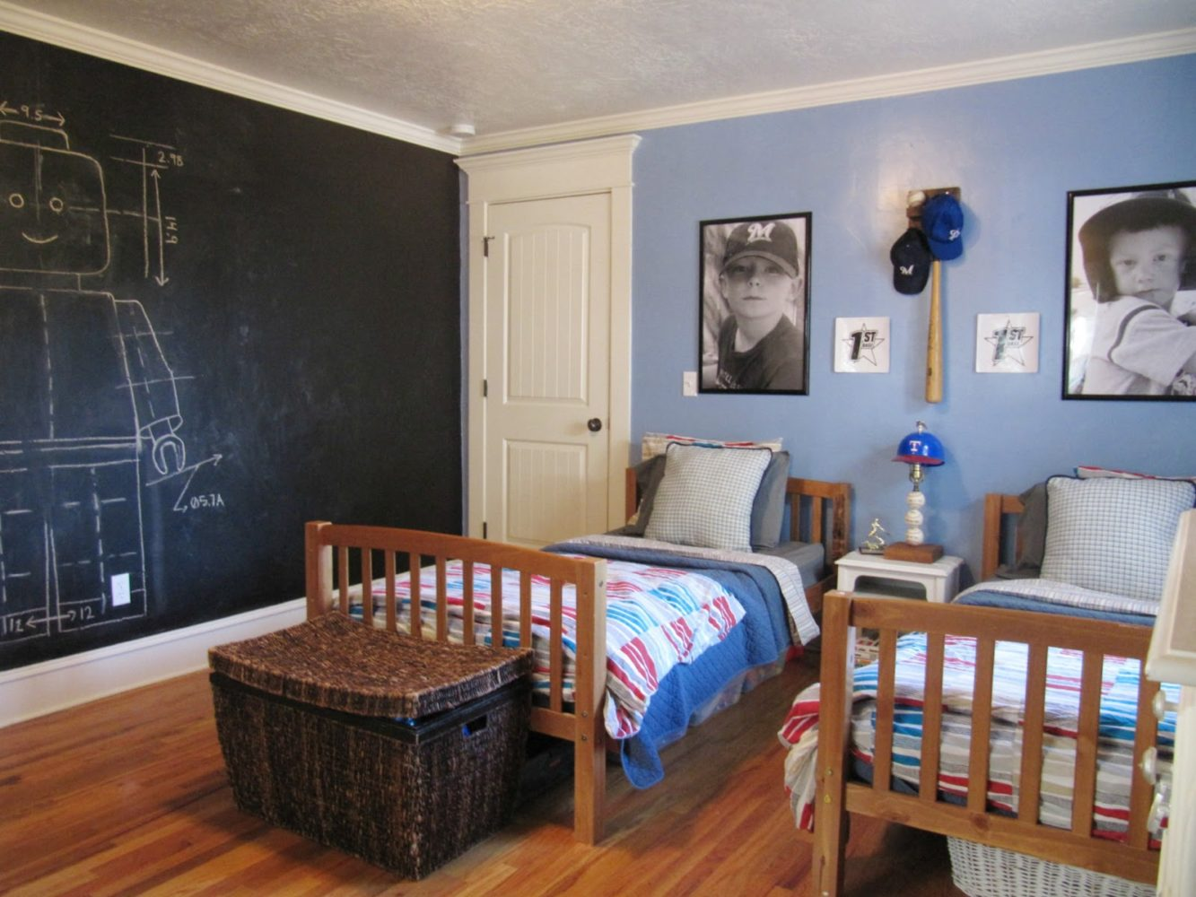 Black board wall in toddler room - Taskmasters