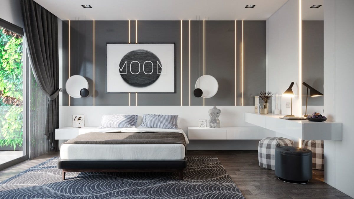 LED wall in the bedroom - Taskmasters