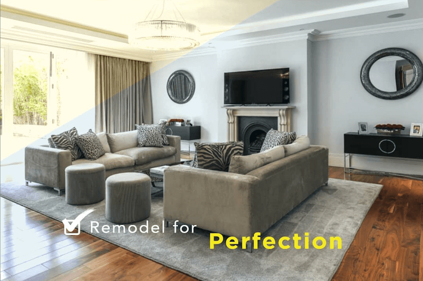 living room renovations in Dubai
