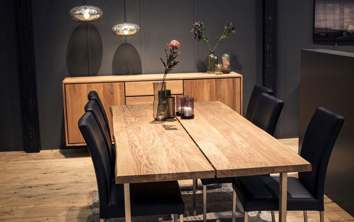 Wood in dining room - Task Masters Dubai