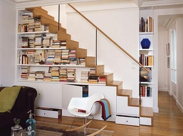 Bookshelf under stairs - Task Masters, Dubai