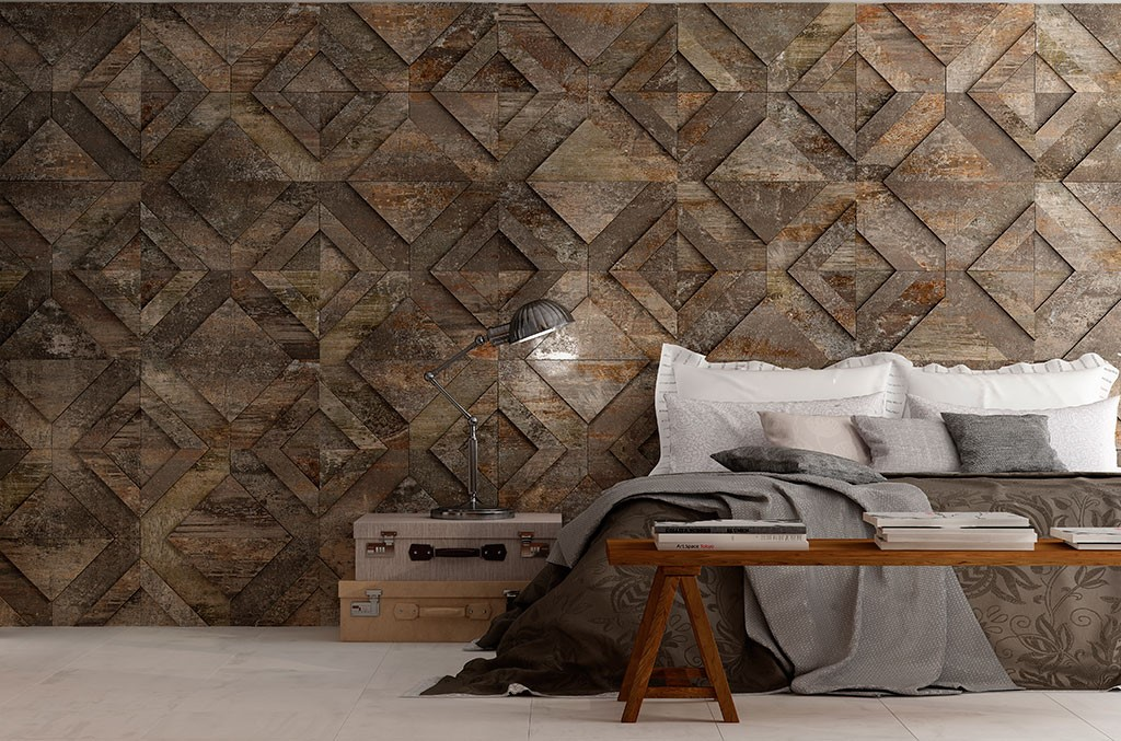 Metallic Look Design Tile - Task Masters, Dubai
