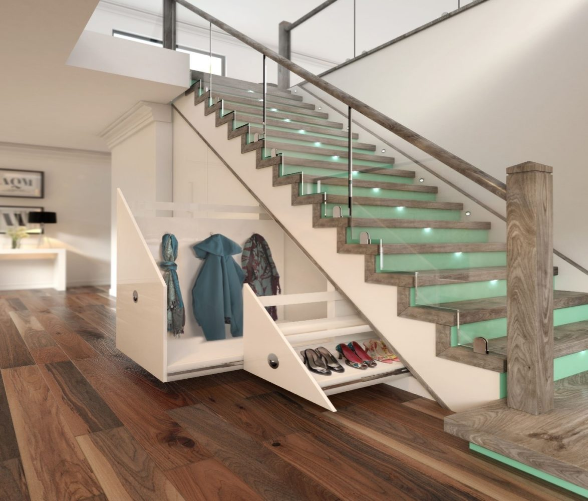 Stairs with storage drawers - Task Masters, Dubai