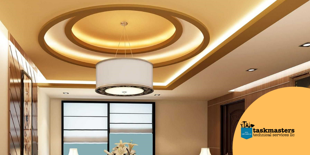 Ceiling types by Task Masters, Dubai