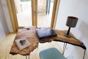 rustic wood desks