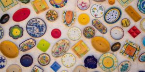 antique-looking plates